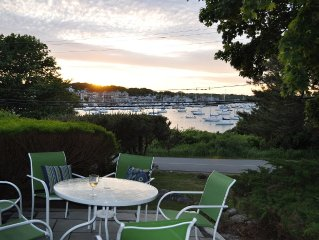Spectacular harbor views and heated pool.  4-min walk to beach or town!