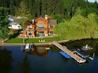 Private, Luxury Waterfront Retreat by Coeur d'Alene Lake Idaho