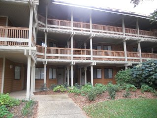 1st Floor Unit on Lake in Laurel Court. Private Pool. Short walk to the beach