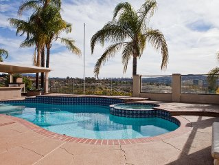 Private Gated Temecula Wine Country Ranch Estate with Pool. Spa & View!
