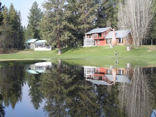 A River Runs Thru It. River front cabin, 8 acres! Call for same day booking.