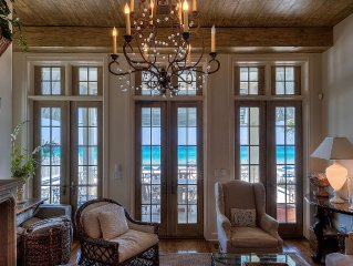 Rosemary Beach Area - Perfect Gulf Front Beach House with Private Walkover
