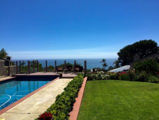 Stunning home on oversized lot with large pool/jacuzzi and beautiful ocean view