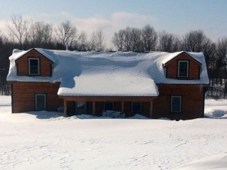 NEW IN 2015  4 BEDROOM 2 BATH CABIN MINS FROM SALMON RIVER ON SNOWMOBILE TRAIL,