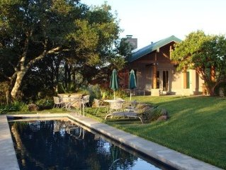 Dog Friendly  Vineyard Estate Cottage with Lap Pool and Incredible Views