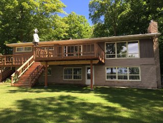 Pokegama Lake Vacation Home with 100' of gorgeous sandy lakeshore