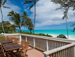 Aloha Getaway Beach House, Oceanfront Deck!!!, 2 Bedroom Beachfront, Sleeps 8