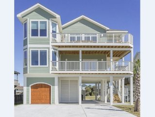 5 Bedroom Pirates Beach New Construction! Gulf & Bay Views! Golf Cart Included