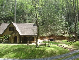 Unique  StoryBook Cottage on 5 Lush acres of Forest, Streams, Peaceful & Private