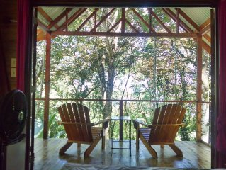 Surf Break At Paunch: Enjoy The Surf And Tree House Views In Our Tree Cabin
