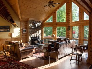 Luxury Log Cabin Style Family Ski Lodge 15 Minutes From Sunday River Ski Resort