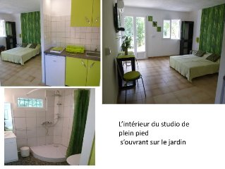 STUDIO for 2 people in villa with pool