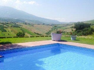 Abruzzo Villa Di Stelle Italy. Pool WIFI . spectacular private. Sublime Views.