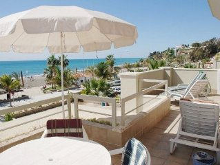 Burriana 202  Two Bedroom apartment, A / A frontal sea view, 1st line beach,