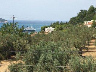 Aimilia ,2 bedroom,2 bathroom sleeps 6,in country next to Skopelos town,sea view