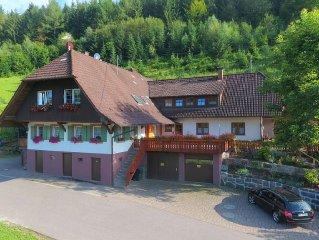 Appartment im Schwarzwald,Bauernhofurlaub, Kinderfreundlich, Ponys, Wandern