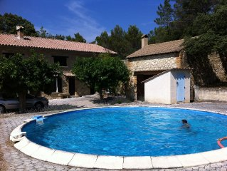 typical Provencal farmhouse in Provence countryside