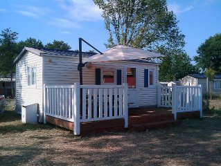 Mobile Home 4 pers. nearest beach Contis