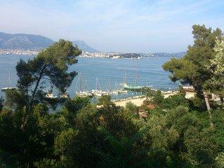 Appartement dans une Villa du 19e sur la Côte d'Azur, vue à 360° sur mer.