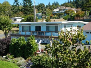 Westside Whidbey Island Home With View Of Puget Sound Shipping Lanes & Olympics