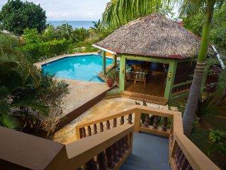 Private villa on the beach at Black River, Jamaica