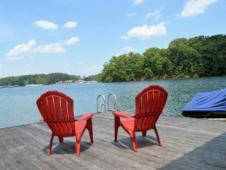 Comfortably Designed Lake Keowee Waterfront, Minutes to Clemson- In Seneca