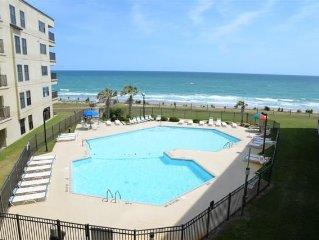 Oceanfront Condo- 4 Bedrooms, Sleeps 10, Outdoor & Indoor pools, tennis courts