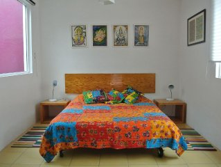 Light, fully equipped studio apartment