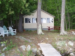 Quiet Classic Maine Camp Located 30 Feet From Waters Edge