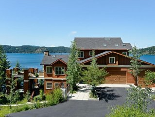 Coeur d' Alene Lakefront Luxury Retreat With Hot Tub, Sauna, Boat Slip And More.