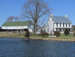 Working farm spread out over 156 acres in scenic Adams County, PA.