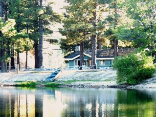 Lakefront Cabin: Green Valley Lake - Closest to the water!  Lots of snow!