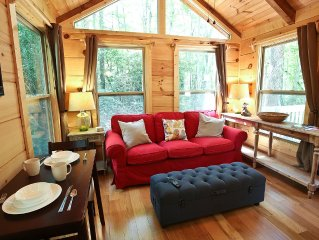 Red Fox Retreat- in forest near Brevard, Waterfalls,  Hiking Trails and Downtown