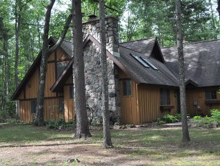 Interlochen/Unique 2600 sq. ft. Home in the Woods/Sleeps 8; 5BR/2BA; Wifi/Cable