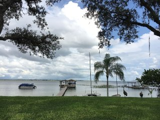 Lakefront Home On Lake Placid, Beautiful Views, Private Beach, Spacious Dock