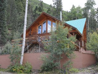 Ski In - Ski Out Luxurious Log Home in Taos Ski Valley, New Mexico