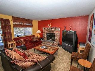 Lower Level Ski Chalet Duplex Unit~Outdoor Hot Tub~Full Kitchen~Fireplace~WiFi~