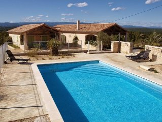 Tasteful holiday home with pool on beautiful location in the Ardeche