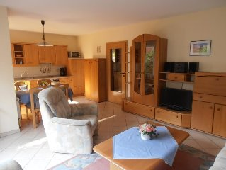 Comfortably furnished 3 bedroom apartment c. 60 m² with terrace in a quiet loca