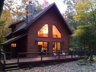 Modern log-cabin sided retreat!