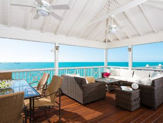 **Book Now & Save!**Oceanfront, Caribbean villa on Sapodilla Bay, Private Pool!