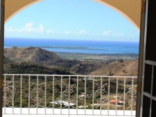 Caribbean View Villa- 5 acres,  sea and mountains view, hilltop, quiet, private