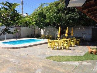 Casa de praia totalmente mobiliada com piscina