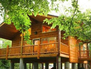 Helen Riverside Cabin-Chattahoochee River-Walk to Town
