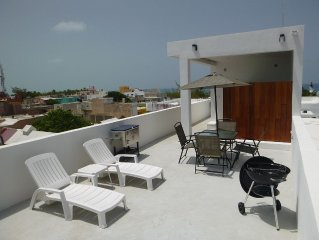 Penthouse apartment with rooftop terrace and great location