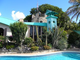 2 bedroom apartment in mountain top villa with pool..