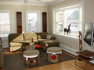 Architect Designed West End Condo; Great Locale - Huge Deck.  A/C and free WiFi!