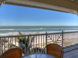 Elegant Beachfront Condo w/pool!  Walking distance to many restaurants and shops