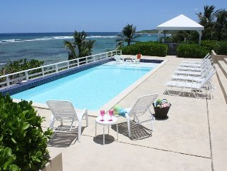 LUXURY BEACHFRONT RENTAL 'VILLA SANTA CRUZ' Columbus Landing Beach, 4 BDRM,5 BTH