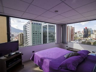 1Br. apartment iYOUR BEST CHOICE, MAGNIFICENT VIEW OF QUITO!